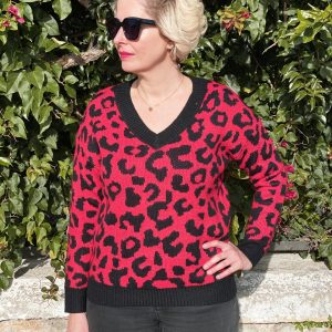 Jersey Leopardo Rojo