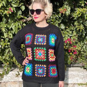 Jersey crochet negro