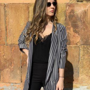 REBAJAS – Sobrecamisa estilo  blazer gris